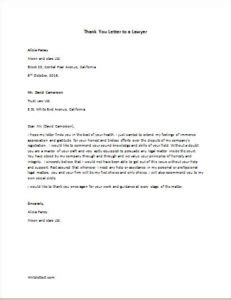 thank you letter to a lawyer letter templates