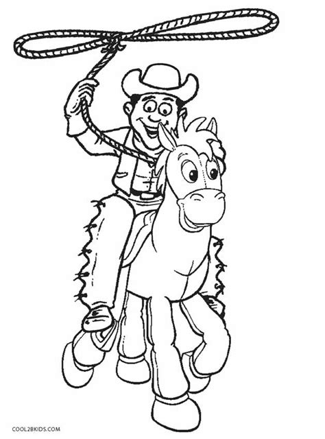 printable cowboy coloring pages for cool2bkids