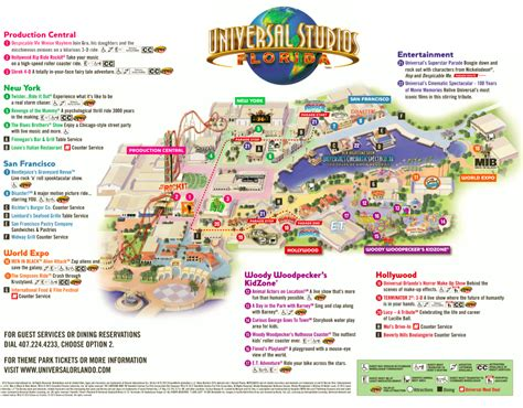 universal map the thrills universal studios florida