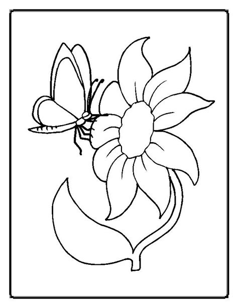 coloring page of flowers flowers coloring pages