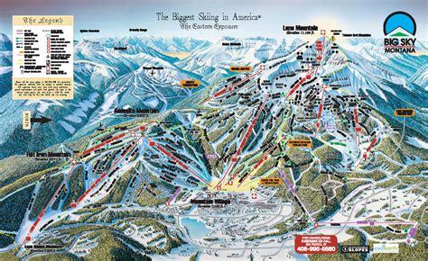 usa ski resort map big sky ski map free