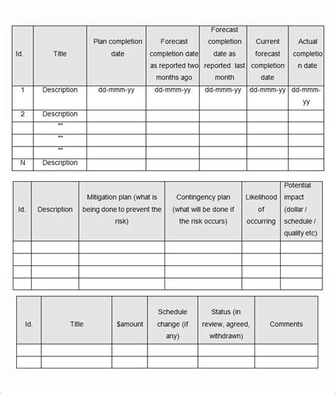 Management Review Report Template