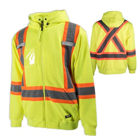 Hoodie Yellow Claw 06 hi vis fleece hoodie removable yellow sz 2xl bellmans industrial supply st s nl