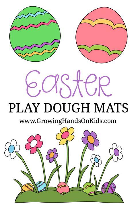 free printable easter playdough mats free printable easter play dough mats