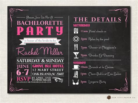 Bachelorette Invitation Bachelorette Party Invitation Bachelorette Invitation Template