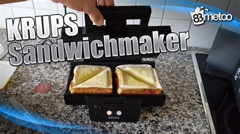 Toaster Sandwich Maker Krups Sandwichmaker Krups Fdk 451 Sandwich Toaster Youtube