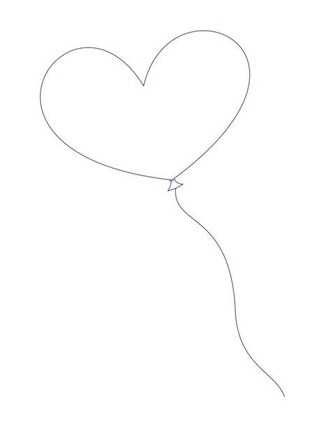 heart balloon coloring page a heart shaped balloon by sketchesinminutes on deviantart