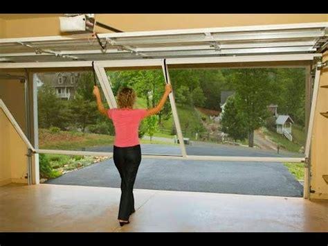 pull down screen for garage door