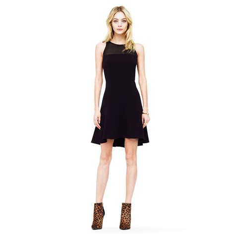 club monaco lorna neoprene dress in black lyst