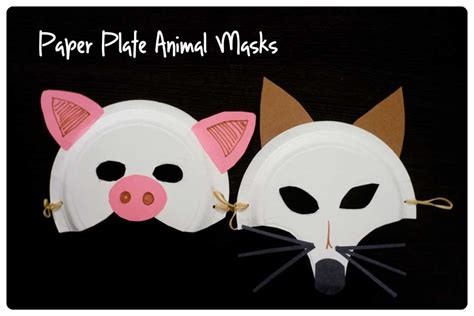 Paper Mask For - paper plate animal masks activities more