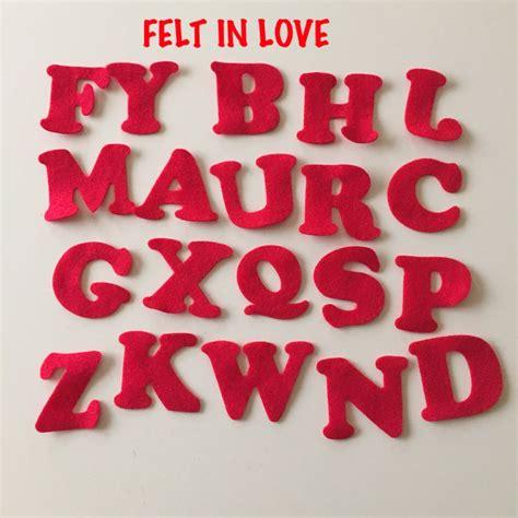 lettere pannolenci lettere dell alfabeto fustellate in pannolenci 1 mm