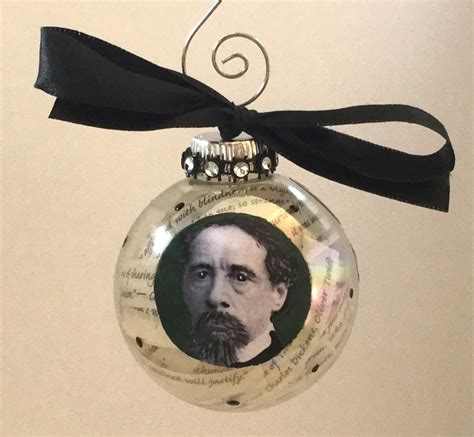 charles dickens glass christmas ornament the cottage shop