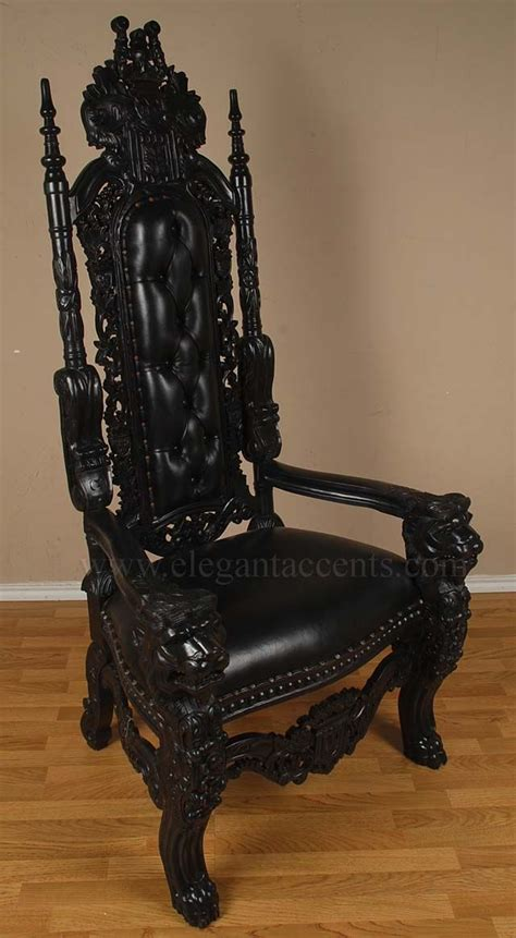 king furniture armchair 6 gothic king lion throne chair with distressed black