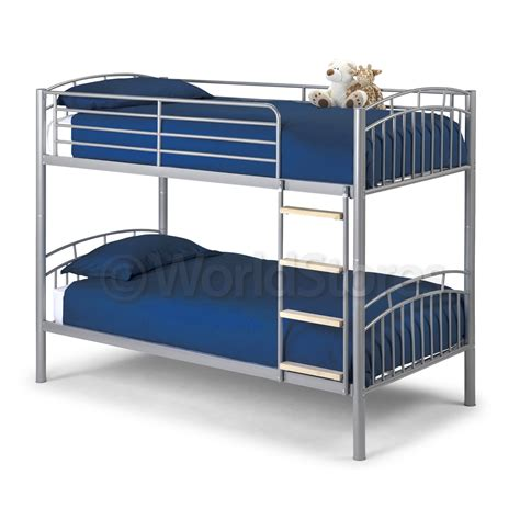 Metal Bunk Bed Frame With Futon Ventura Metal Bunk Bed Frame Next Day Delivery Ventura Metal Bunk Bed Frame From Worldstores