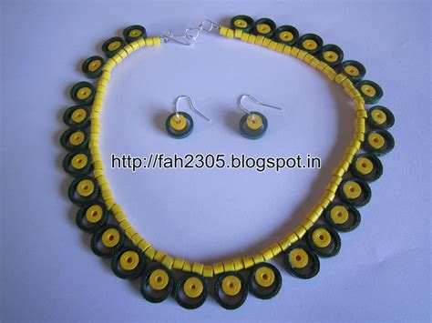 Handmade Paper Jewellery Ideas - handmade jewelry paper quilling necklace and earrings 1