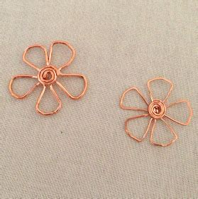 how to make flowers into jewelry yang s jewelry copper wire flower pendants