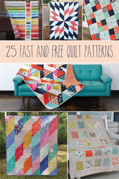 Easy Quilt Projects For by 25 Fast And Easy Quilt Patterns For Quilting New