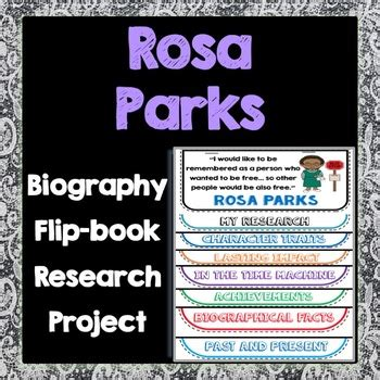 biography flip book rosa parks biography research project flip book women s