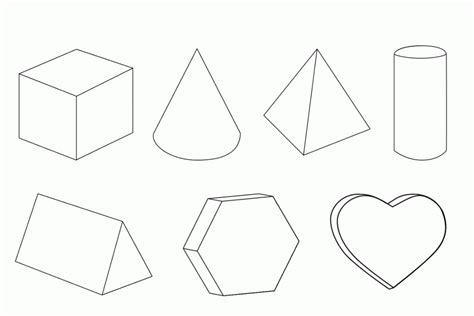 geometric shapes coloring pages pdf 3d geometric shapes coloring page coloring home