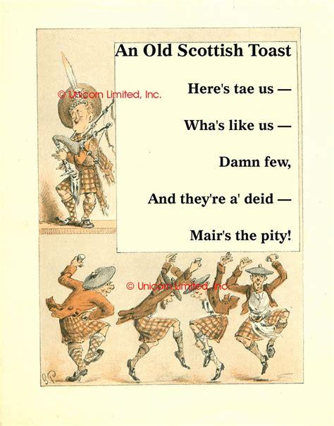 happy new year in scottish greeting scottish toast print here s tae us bagpipes ebay