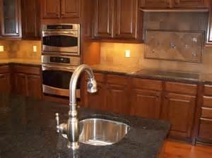 Tiles with in frame tiles backsplash and under cabinet kitchen