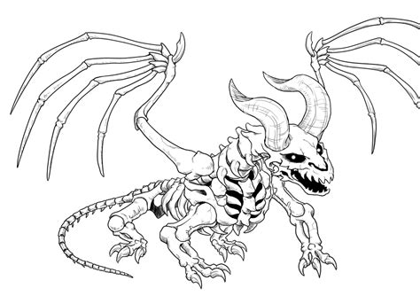 skeleton dragon coloring page skeleton dragon by hyuthefish on deviantart