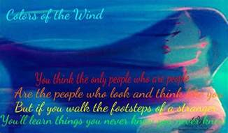 lyrics colors of the wind day 25 favorite lyrics colors of the wind from pocahontas