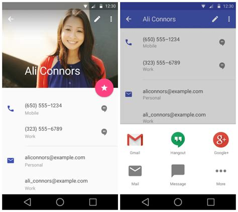 contacts app android sneak peek at android l s redesigned settings gmail calendar and lots more gallery