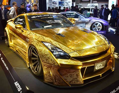 Handcrafted Cars - a gold custom car tokyo s 2016 custom car show