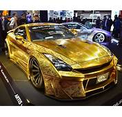 A Gold Custom Car  Tokyos 2016 Show