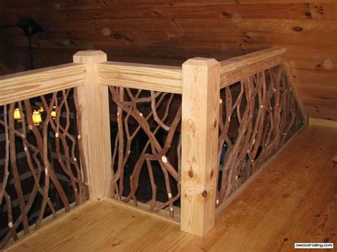 Twig Home Decor by Stair Railing And Balcony Handrail Artistic Branch Wood
