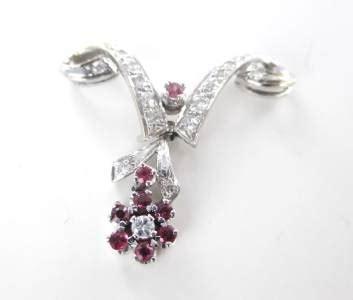 14 40 Carat Ruby 14kt white gold pendant 17 40 carat rubies ruby