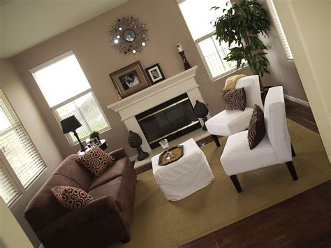 taupe walls contemporary living room