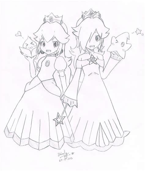 Princess Peach Daisy And Rosalina Free Coloring Pages On Chibi Princess Rosalina Free Coloring Sheets