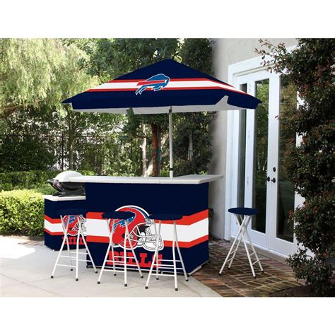 best of times buffalo bills all weather patio bar set with