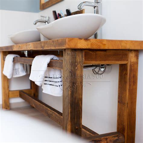 mobili bagno in legno mobile bagno in legno massello per doppio lavabo