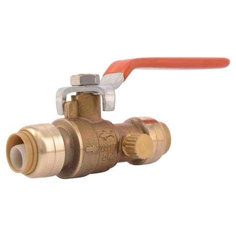Plumbing Flow Valve by Valves With Drain Vent 1 2 Quot 3 4 Quot 1 Quot From Sharkbite