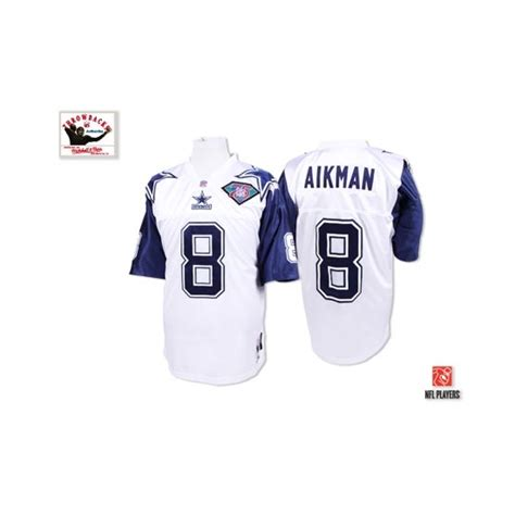 throwback replica white troy aikman 8 jersey original design of designers p 265 troy aikman mitchell and ness dallas cowboys no 8
