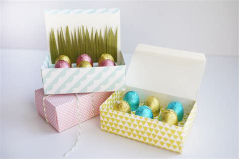 templates for easter egg boxes printable mini easter egg treat boxes