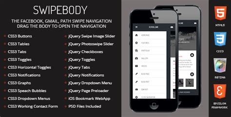 phonegap templates for android free download swipebody mobile retina html5 css3 and iwebapp jogjafile
