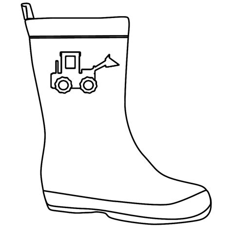 rain boots coloring page coloring home