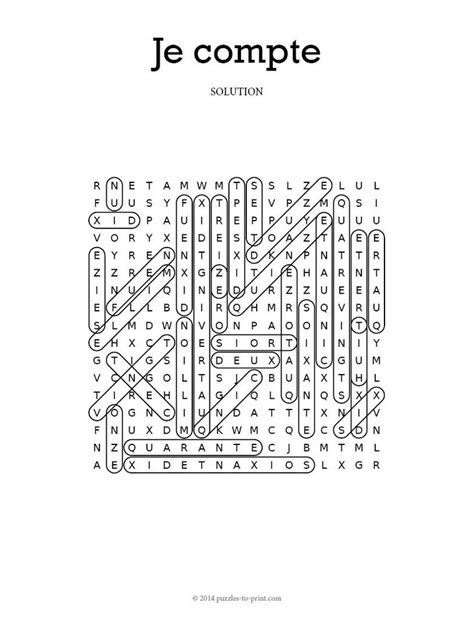 free printable word searches in french french numbers word search