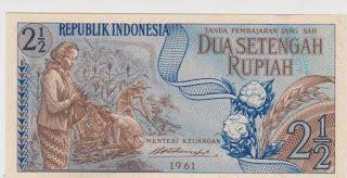 Uang Kuno 2 5 Rupiah Tahun 1961 2 5 rupiah seri sandang pangan uang kuno