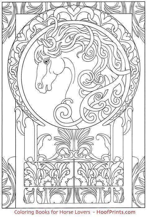 design coloring books nouveau animal designs coloring book www hoofprints