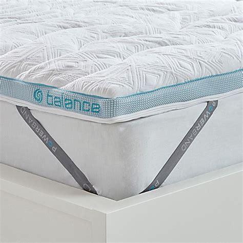 bedgear balance boost   mattress topper  white