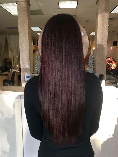 pinterest rich violets reds browns long hair red violet dark brown hair color long hair straight long
