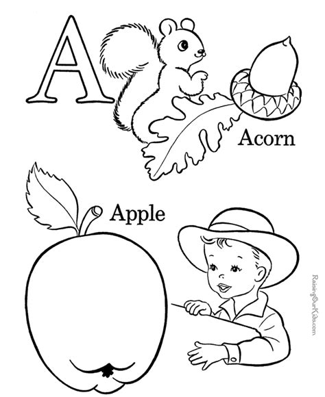 Preschool Letter Coloring Pages Az Coloring Pages Letter A Coloring Pages For Preschoolers