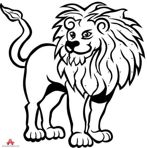clipart black and white lion clipart black and white 101 clip art