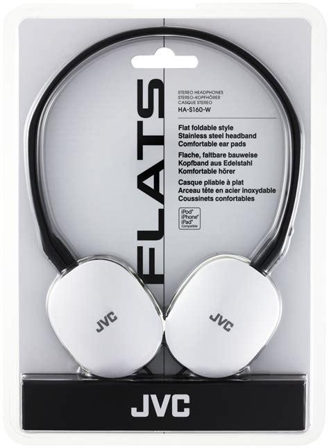 Promo Jvc Headphone Stereo Ha M55x W Phone Dj White jvc flats foldable style headphones white ha s160 w ef