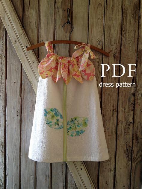 sunny flower pillowcase dress girl sewing pattern pdf sunny flower pillowcase dress pattern tutorial girl s
